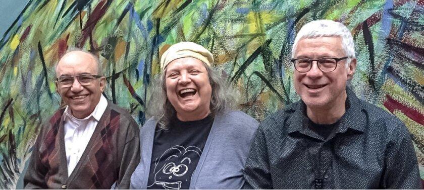 The Sãn-Sao Trio features, from left, pianist Amilton Godoy, flutist Léa Freire and saxophonist and clarinetist Harvey Wainapel.
