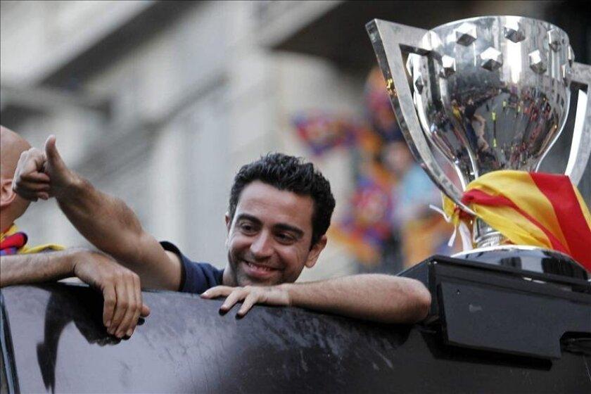 El jugador del FC Barcelona, Xavi Hernández. EFE/Archivo