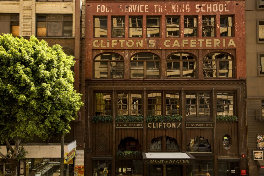 The historic Clifton's Cafeteria on Broadway downtown.