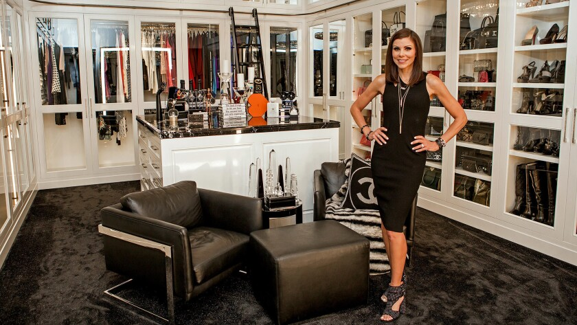 The actress and reality star says her multipurpose closet has become a gathering spot for her guests