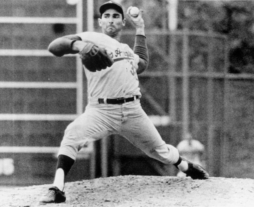 Sandy Koufax is the greatest Dodgers player ever, according to Los Angeles Times readers.