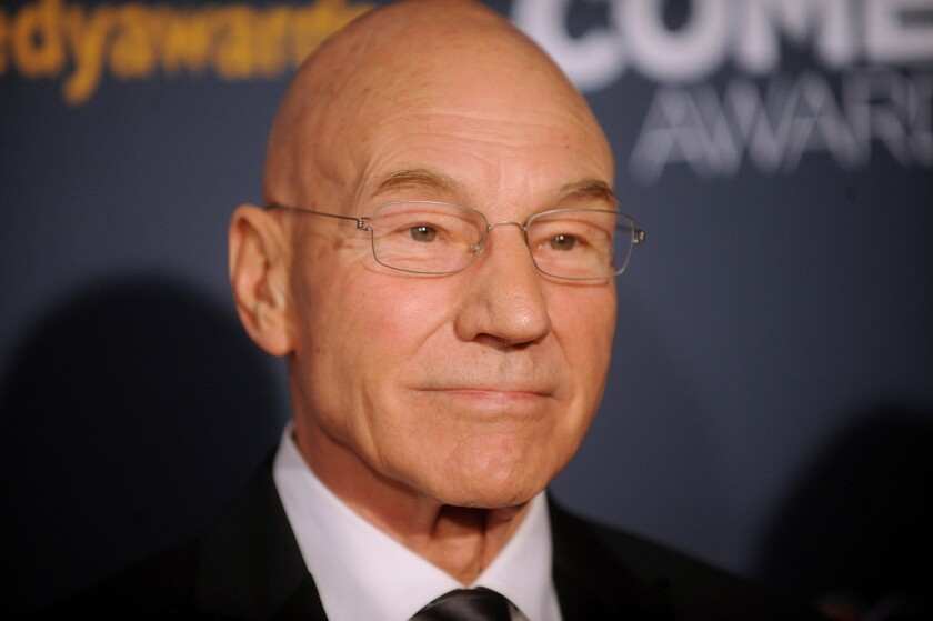 "Patrick Stewart will star in the upcoming Starz comedy series ""Blunt Talk."""