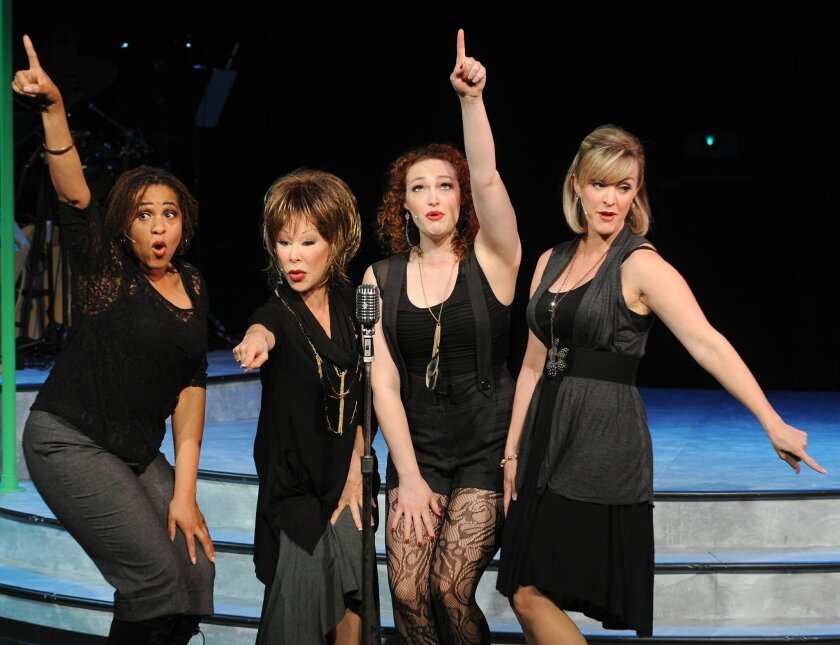 "Lisa H. Payton, Leigh Scarritt, Kelsey Venter and Nancy Snow Carr in ""Respect: A Musical Journey of Women."""