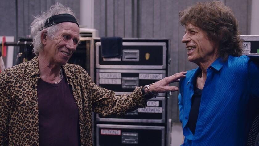 "Keith Richards, left, and Mick Jagger in the documentary ""Rolling Stones Olé Olé Olé: A Trip Across Latin America."""