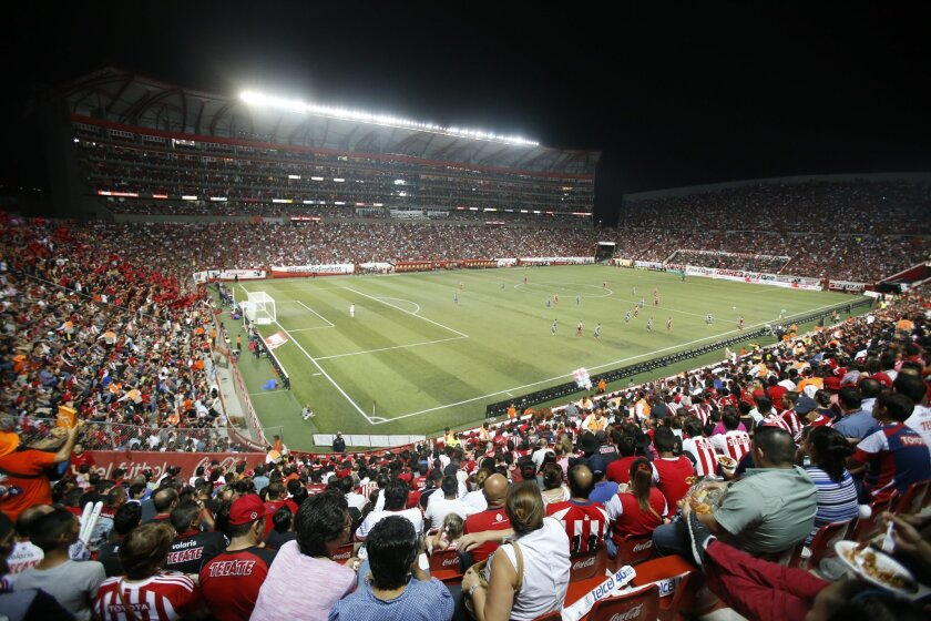 Estadio Caliente, home of the Tijuana Xolos soccer club, features five levels of premium seating and two restaurants.