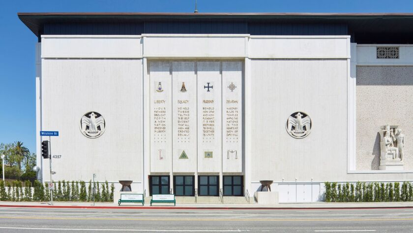 The Marciano Art Foundation, housed in a former Masonic temple on Wilshire Boulevard near Koreatown.