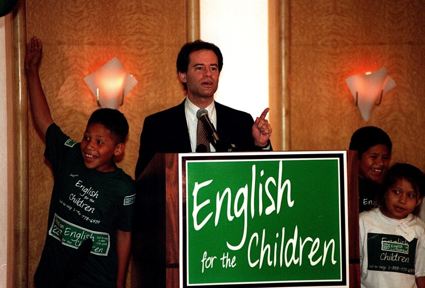 Ron Unz in June 1998 after Proposition 227 won in primary elections.