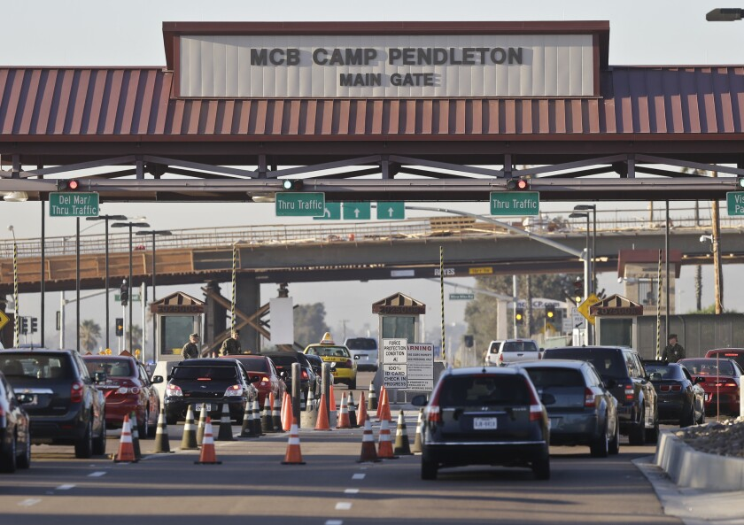 Two Marines at Camp Pendleton have been arrested on federal drug charges.