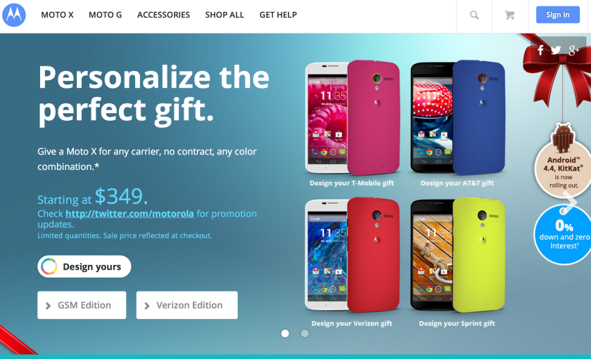 High demand for the Moto X on Cyber Monday crashed Motorola's website, forcing the phone maker to reschedule the online offer.