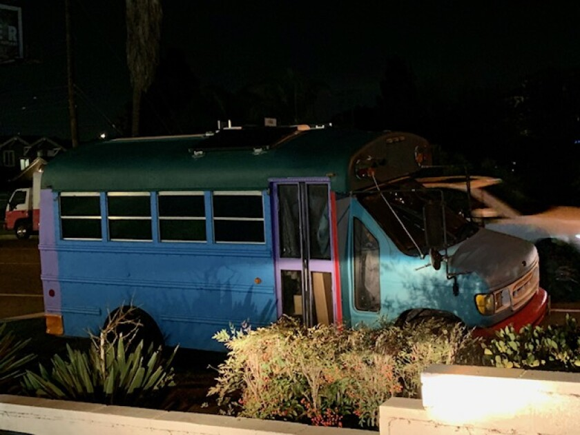 Opinion: Do homeless people live in this dilapidated blue bus? You decide