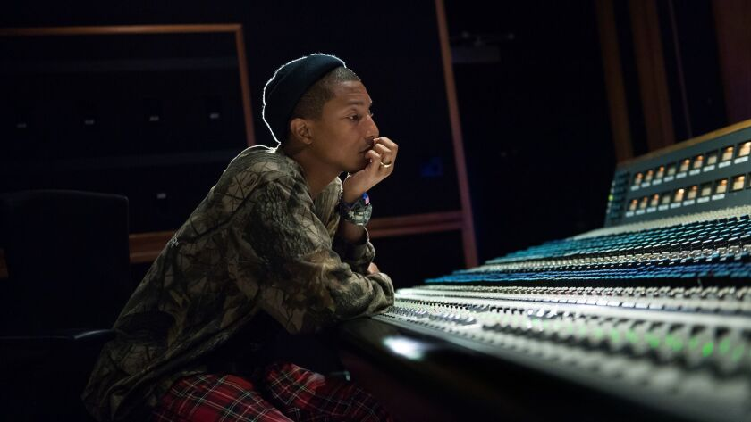 HOLLYWOOD-CA-NOVEMBER 28, 2016: Pharrell Williams is photographed at EastWest Studios in Hollywood.