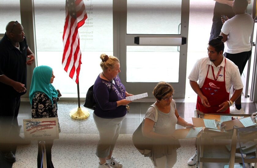 At the County Registrar of Voters, ballots were accepted all day and into the evening.