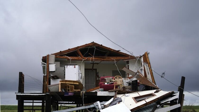 Home destroyed by Hurricane Ida