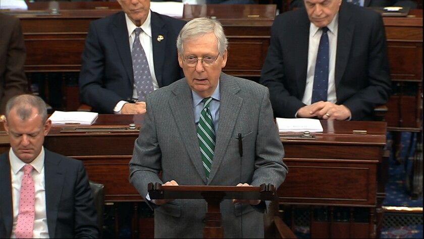 Senate Majority Leader Sen. Mitch McConnell (R-Ky.)