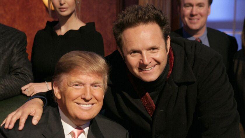 "Donald Trump, left, and Mark Burnett, in 2007 while filming ""The Apprentice"" Season 6 finale."