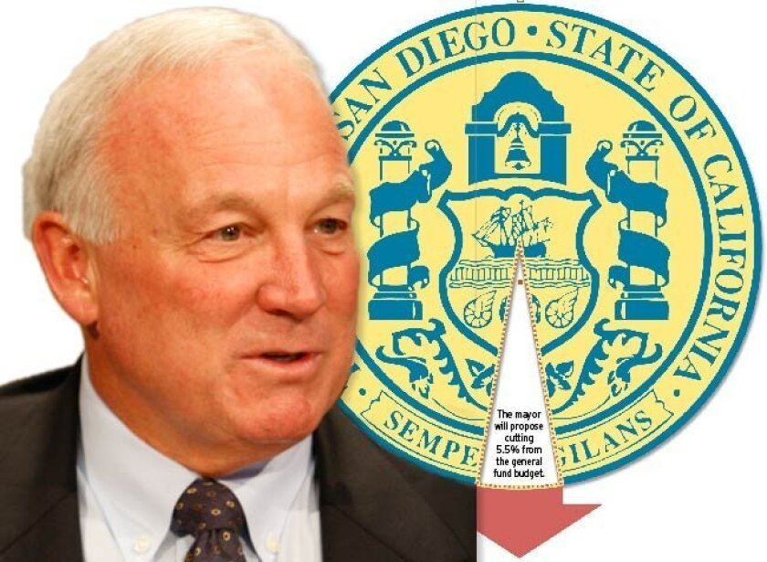 Mayor Jerry Sanders plans to slash $62.5 million directly from San Diego city departments, including $26 million combined from police and fire.
