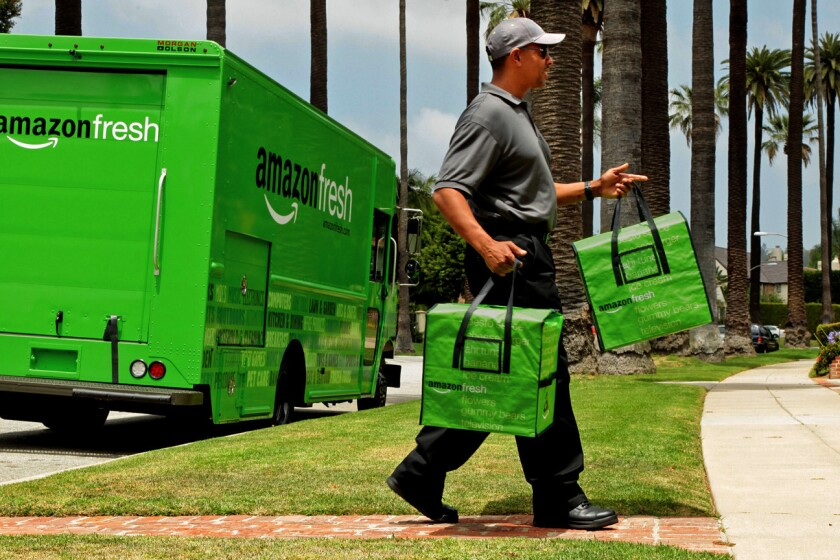 Amazon Fresh will begin delivering farmers market produce.