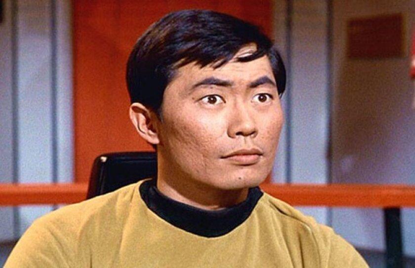 """George Takei as Lt. Sulu in """"Star Trek."""""""