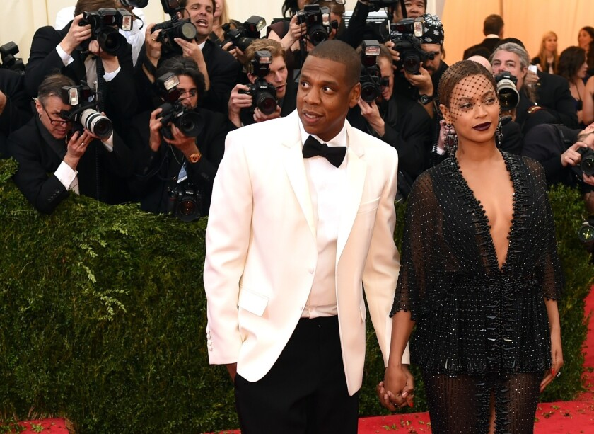 Jay Z and Beyonce arrive at the Costume Institute Benefit at The Metropolitan Museum in New York in May.