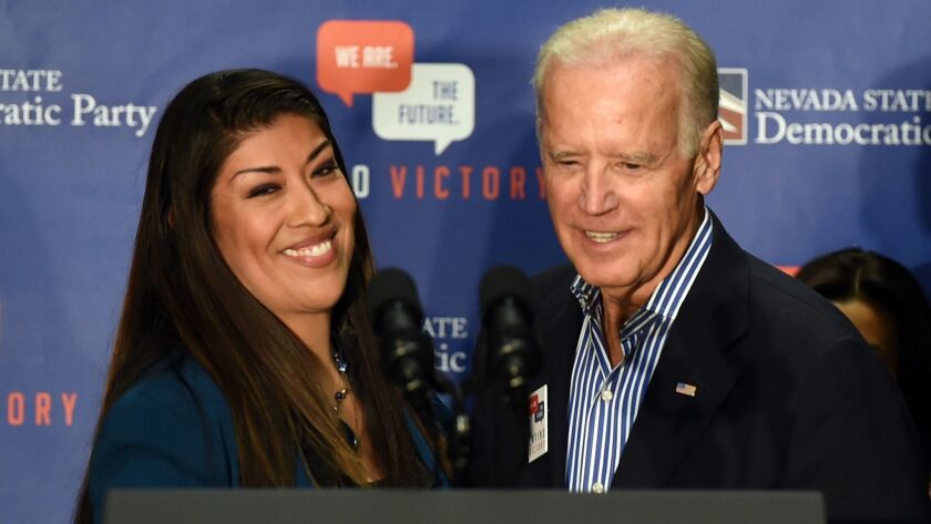 Joe Biden And Eva Longoria Campaign For Nevada Democrats