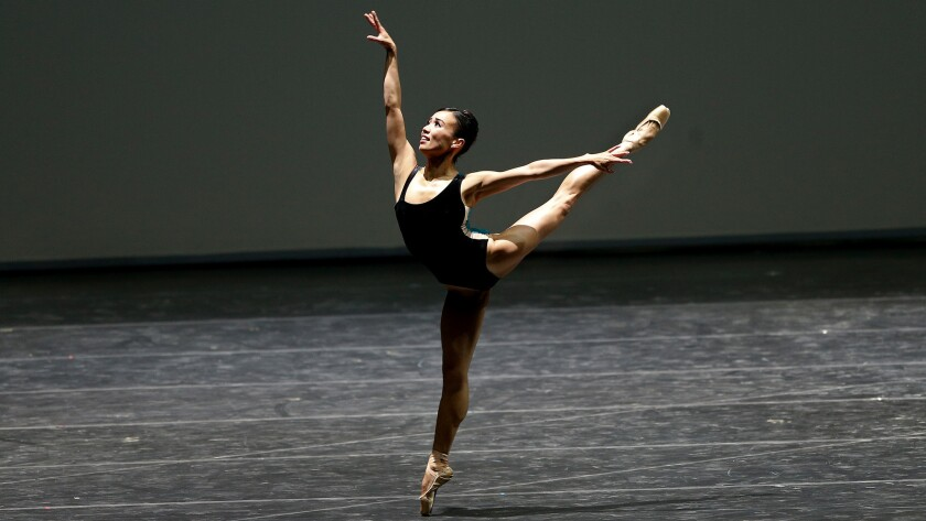 "San Francisco Ballet's Frances Chung performs ""Pas/Parts 2016."""