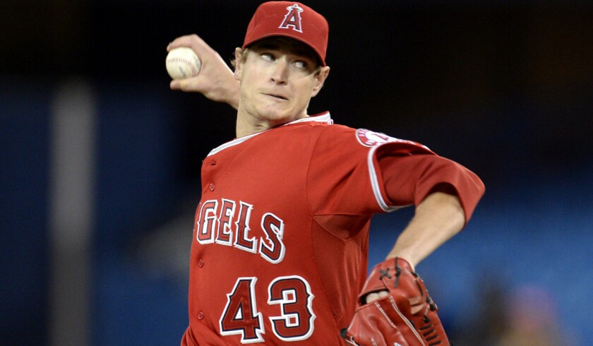 Angels starting pitcher Garrett Richards