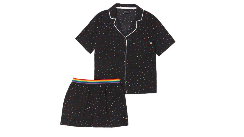From sleep and loungewear brand Room Service comes pajamas printed with a sprinkling of stars. Cred