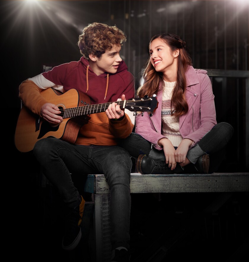 "Joshua Bassett and Olivia Rodrigo, stars of Disney's ""High School Musical: The Musical: The Series"""