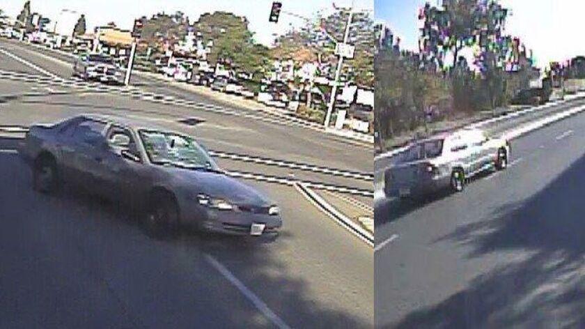 Vehicle sought in a Linda Vista hit-and-run crash involving a bicyclist on Nov. 25.