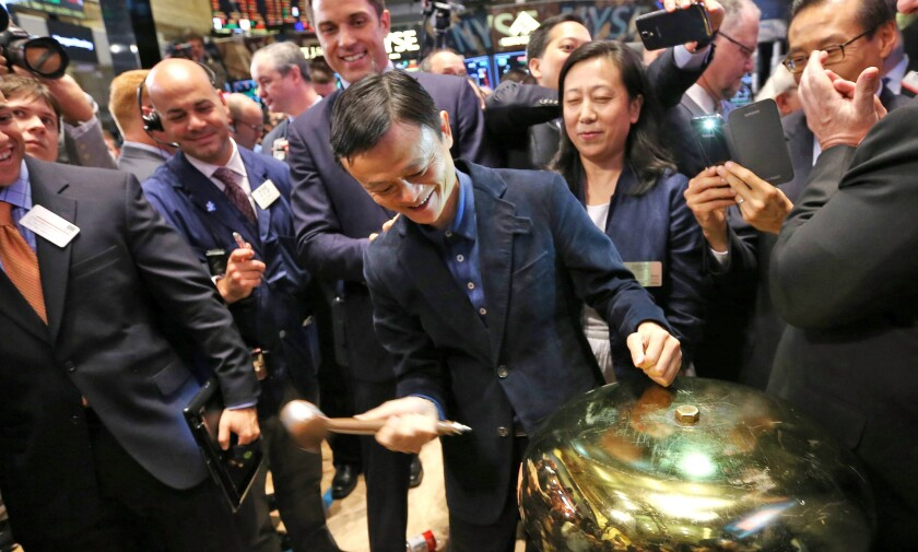 Jack Ma at Alibaba's IPO