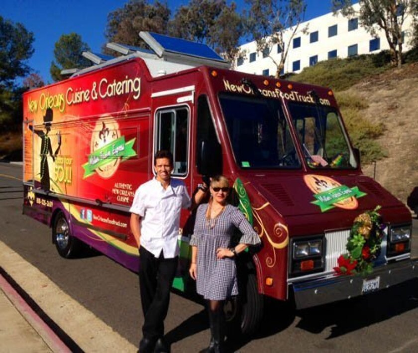 Operations manager Kevin Smith and owner Kate Masel of La Jolla-based New Orleans Cuisine and Catering gourmet food truck  Courtesy