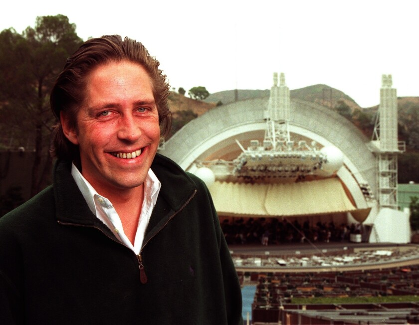 Willen Wijnbergen, former managing director of the Los Angeles Philharmonic, poses at the Hollywood Bowl in 1998.