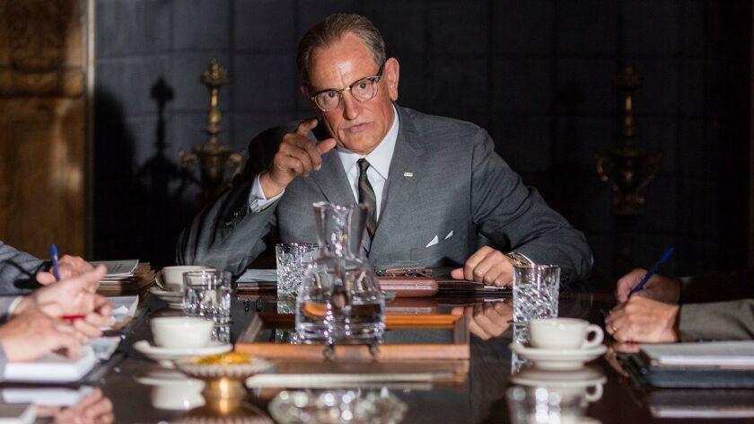 "Woody Harrelson as 'Lyndon B. Johnson' in the movie ""LBJ."" Credit: Electric Entertainment / Sam Emer"