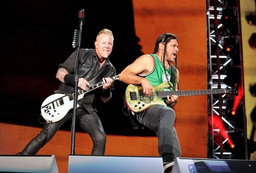 """La formación actual de Metallica, que no es tan respetada como la que grabó el emblemático álbum """"Master of Puppets""""."""