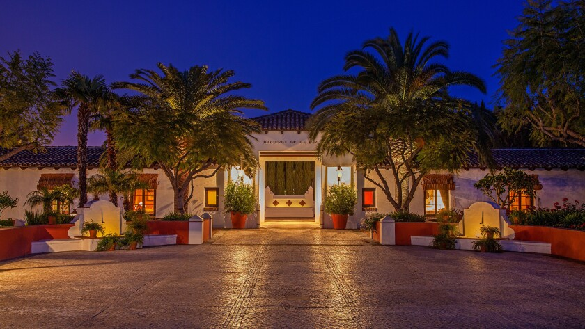"""The owner's dream was """"to build an architectural tribute to California, in the style of the Getty Villa or Hearst Castle."""""""