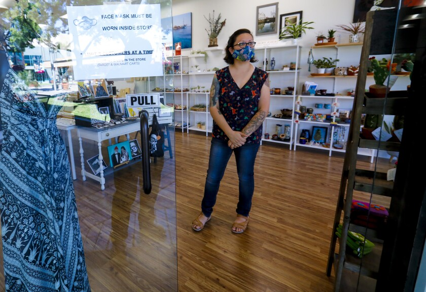 Claudia Sotelo owner of Modern Market located at Grossmont Center, an outdoor shopping mall in La Mesa, was able to re open her store in Phase 1. Late Wednesday night the State of California approved San Diego County's plan for Phase 2 of the reopening plan.