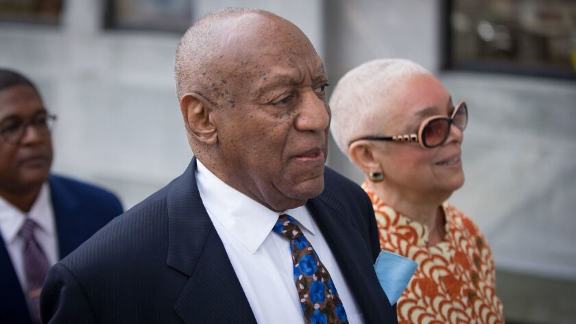 Bill Cosby and his wife, Camille, arrive at the Montgomery County Courthouse in Norristown, Pa.