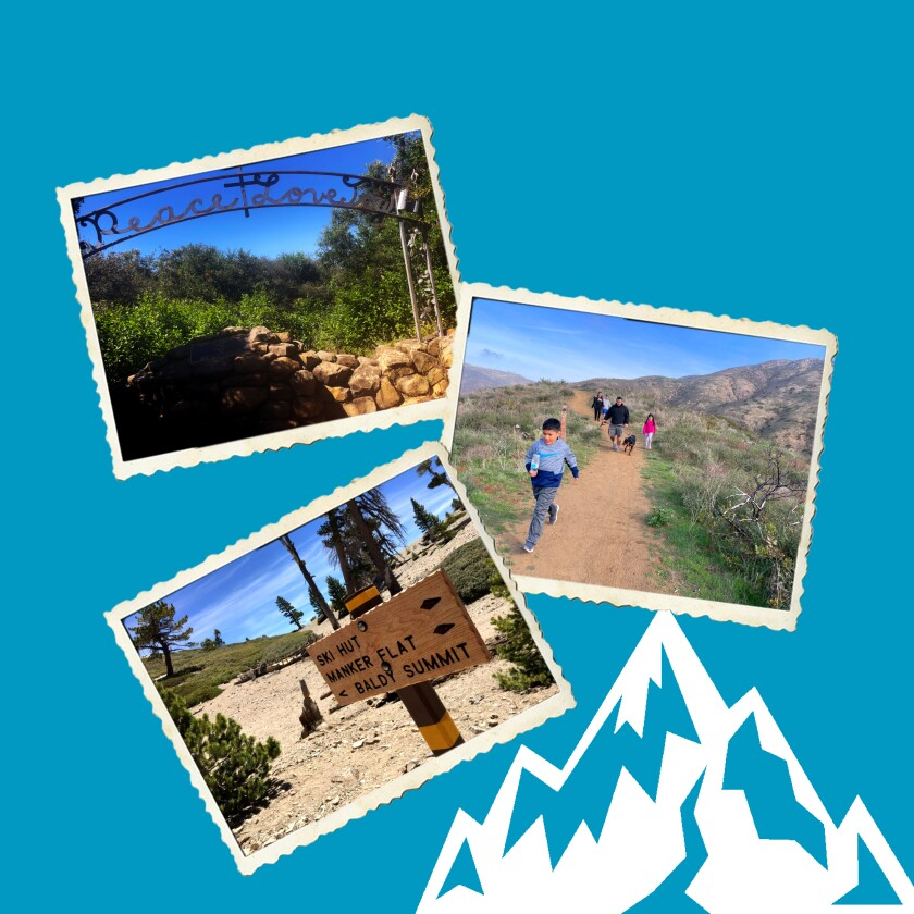 Photo illustration of places to hike