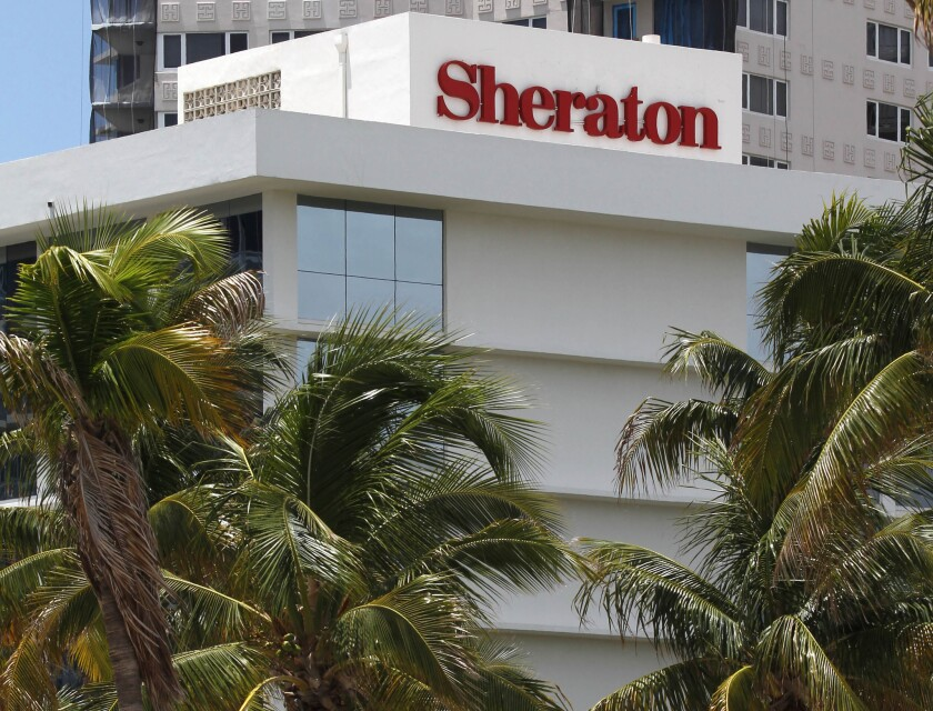 Starwood Hotels & Resorts Worldwide Inc. is the owner of Sheraton and St. Regis hotels. The Sheraton Fort Lauderdale Beach Hotel is shown on July 25, 2011.