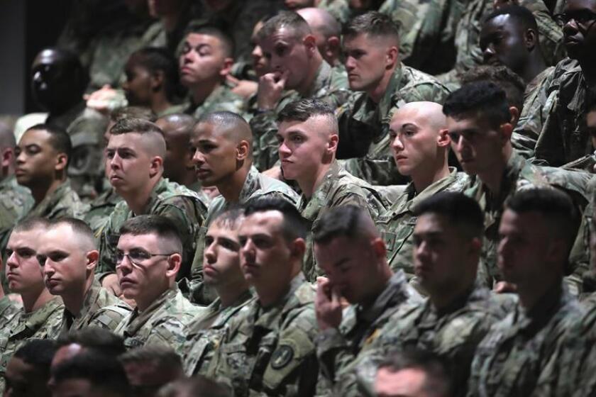 Vista de varios miembros del Ejército estadounidense. Una empresa puertorriqueña fabricará botas para los militares del ejército. EFE/Archivo