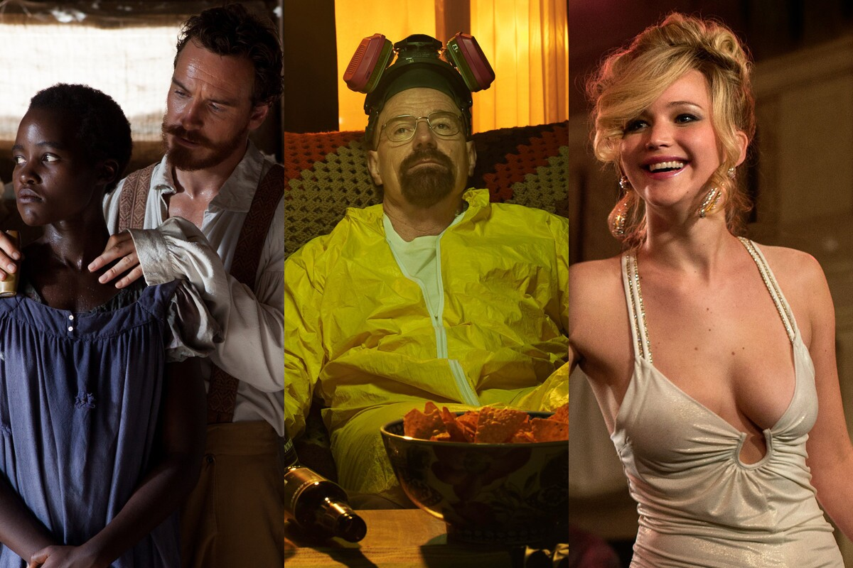 """This year, """"12 Years a Slave"""" leads with most nominations in the film category. Top television nominations split between """"Breaking Bad,"""" """"Modern Family,"""" """"The Big Bang Theory"""" and """"30 Rock,"""" each with three. Click through to see the top winners."""