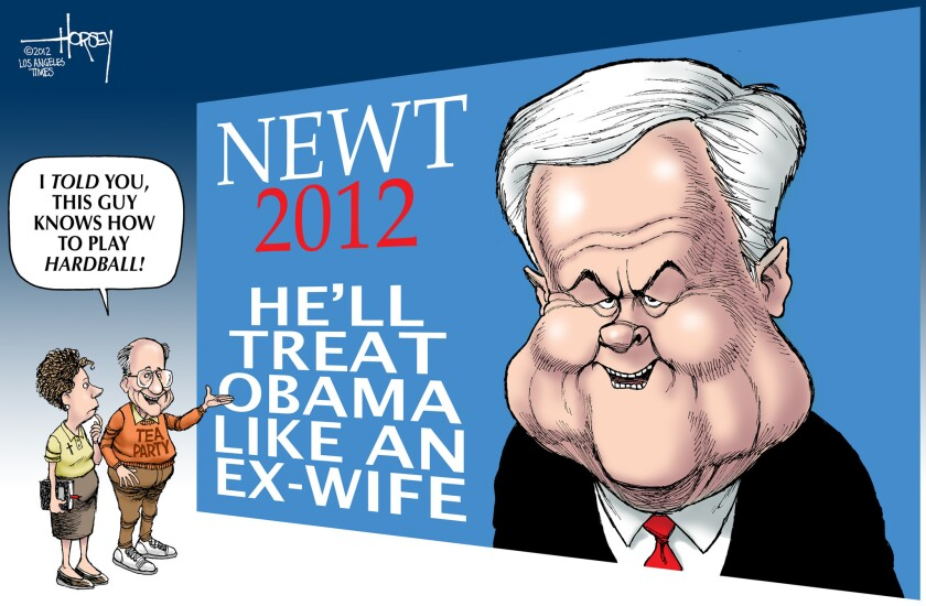 Newt Gingrich plays hardball