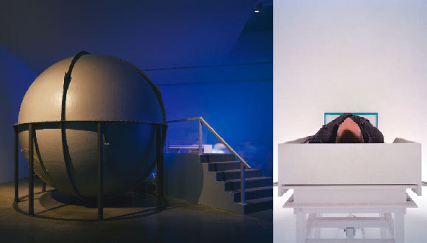"""James Turrell, """"Light Reignfall"""" (2011), installation view at Garage Center for Contemporary Culture, 2011."""