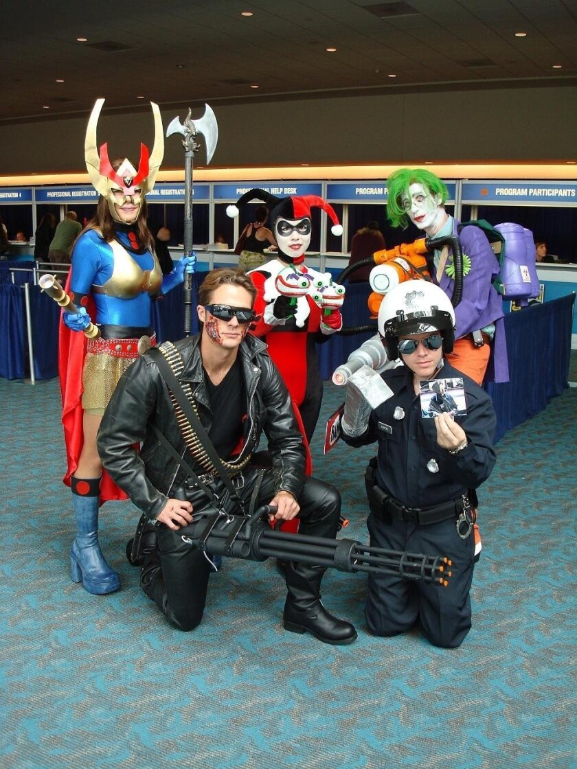 Cosplay in 2008 included Terminators, Jokers and more.