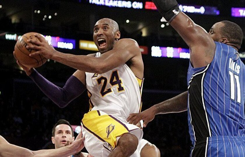"""Philadelphia 76ers Coach Doug Collins says of the Lakers' Kobe Bryant: """"He wants to answer the bell every night for his team, and that's what great players do."""""""