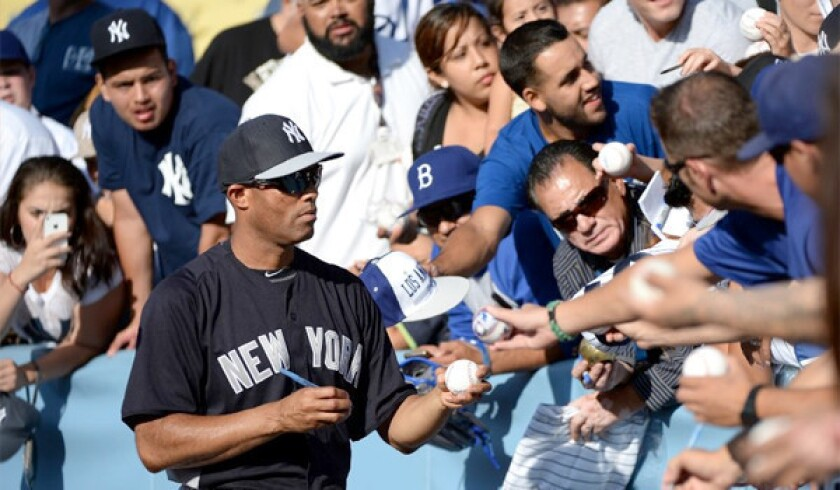 One to save: Mariano Rivera speaks to longtime Dodgers employees