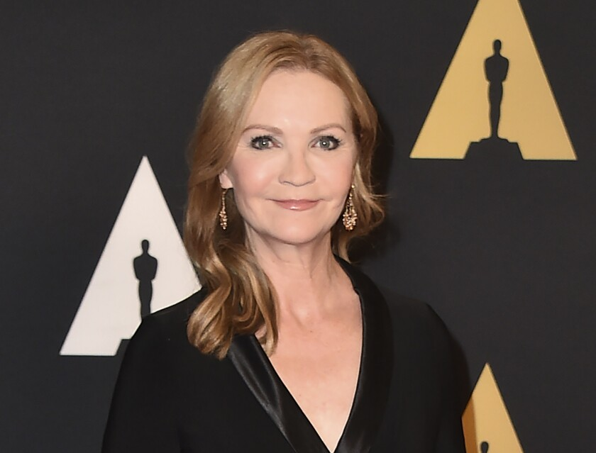 """FILE - Joan Allen arrives at the Governors Awards at the Dolby Ballroom on Nov. 14, 2015, in Los Angeles.Allen will narrate the audiobook for """"State of Terror,"""" the political thriller co-written by Hillary Clinton and Louise Penny, releasing Oct. 12. (Photo by Jordan Strauss/Invision/AP, File)"""