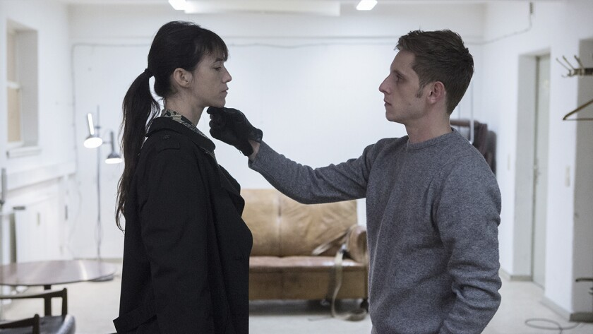 "Charlotte Gainsbourg and Jamie Bell in ""Nymphomaniac: Part Two."""