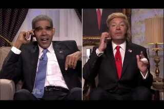 Jimmy Fallon plays Donald Trump, with help from Obama