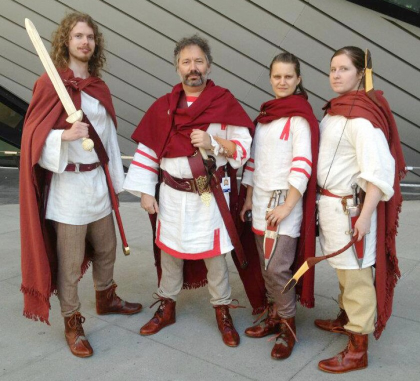 These clothes for a group of Roman archers were made for the Interpretation Department of the Royal Ontario Museum in Canada.